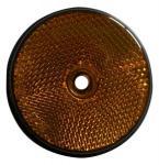 Atspindys apvalus 60mm oranžinis klijuojamas