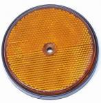 Atspindys apvalus 60mm oranžinis su skylute